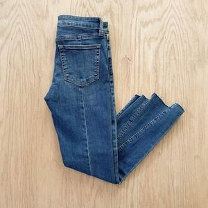 Womens LUCKY BRAND 'Remade' Ava Skinny Staggered Raw Hem Jeans 6
